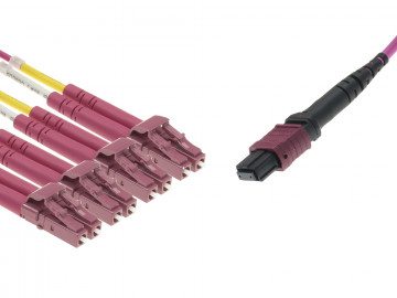 MTP® to 4x LC Duplex Multimode OM4 Breakout cable
