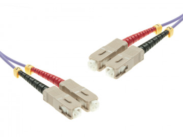 SC-Duplex to SC-Duplex Multimode OM4 cable | 50/125 µm, purple, 0.5 m - 100 m