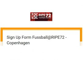Fussball@RIPE72 - Copenhagen (23-27 May 2016)